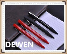 rubber paint persoalized metal twist pen, premium bright finish metal ballpoint pen