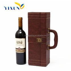 wooden/leather/cardboard wine carrier
