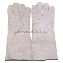 Full Lining Wing Thumb Driving Safety Gloves Nature Cow Split Leather Working Gloves