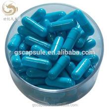 0# blue gelatin empty medicinal capsule