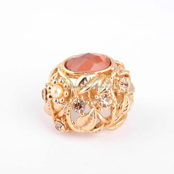 Yiwu Factory Wholesale Gold Plated Ring Ruby Flower Ring for Women