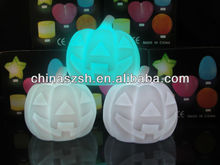 pumpkin shaped plastic lights with LED and beautiful color