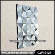 Fashion white 3D wall mirror for decoration