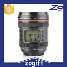 ZOGIFT Novelty Music Camera Lens Magic Projection Digital Alarm Clock / Calendar Thermometer