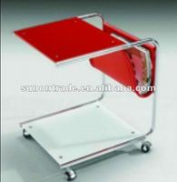 2012 bent glass coffee table designs with wheels