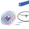 plastic food container fresh box Lockable Food Container silicone gasket