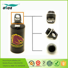 Wholesale good price best quality aluminum black water bottle with a horse logo
