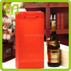 2015 New high quality fashion best selling YiWu custom wine paper bag