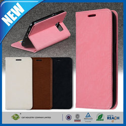 C&T Hot Selling genuine pu leather folio flip cover case for samsung galaxy s6