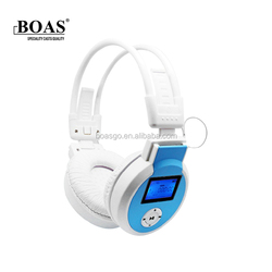 BOAS Completely soundproof Stereo Wireless Bluetooth Headphone with display