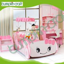 Furniture kids racing car shape wooden furniture kids car bed
