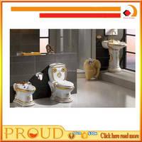Luxury Sanitary Ware Colored Bathroom Set Siphonic One Piece Toilet Set