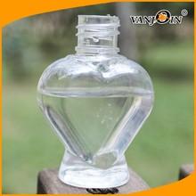 Female Lovely Heart Shape PET Body Cosmetic Bottle