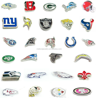 2016 Factory Price Mix NFL Football Zinc Alloy Floating Charms For Locket