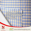 2015 hot sale 100% cotton long stapled blue and yellow check fabric
