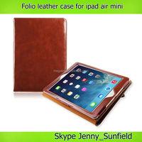 Tablet case cover high quality folio leather case for ipad air mini 2 3 4 ,for ipad air case folio ,for ipad case air mini 2 3 4