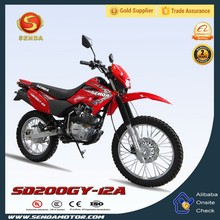 Top Hot Seller 200cc Dirt Bike Pit Bike for Adults in China HyperBiz SD200GY-12A