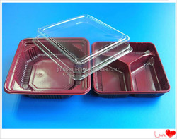 microwavable plastic container food packaging for steak/vegetable/fish
