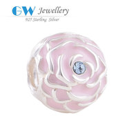 New Fashion 925 Sterling Silver Mini Rose Bead Charm Creative Gifts Fit For European Bracelets