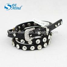 Fashion Skinny Diamante Belt with crystal
