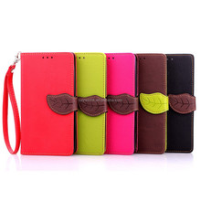 New PU Leather Flip wallet phone case for LG G4 with the magnetic button for leaf shape