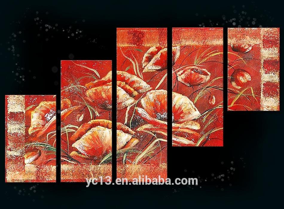 5 pcs panneau africain la mode paysage peinture design for Peinture a la mode
