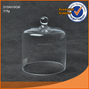 D13XH15cm cheap clear round glass cake dome cover