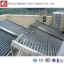 China made cheap split low pressure evacuated tube solar collector, solar manifold