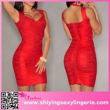 New Fashion Red Foil Print Bandage Dress open sex photo