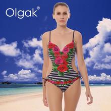 Olgak Hot Open Sex Katrina Kaif One-piece Bikini Swimwear Beachwear