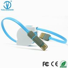 China mobile usb data cable 2 in 1 Colorful Micro Usb Data Charger Cable for all smartphones