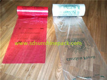 100% virgin material hdpe shop bags on roll with printing