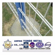 ISO9001 and CE hot dipped galvanized and pvc coated double wire fence/