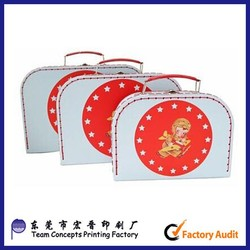 custom kids paper travel suit case underwear storage box