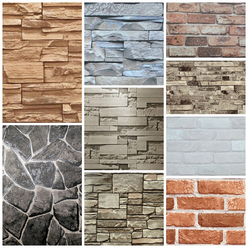 Decorative Brick Wall Design : Vinyl wall decorative d brick design wallpaper buy