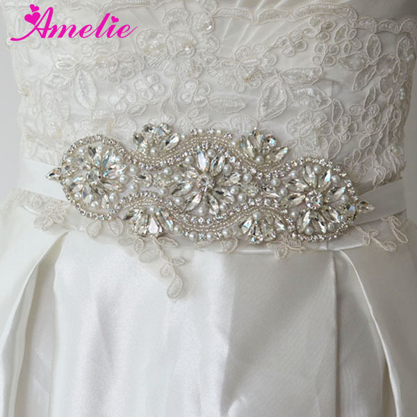 AS358 crystal wedding sash applique (2)
