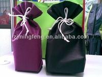 custom wine bottle canvas drawstring bag wholesale