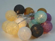 cotton ball string home /holiday /christmas decoration led light