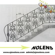 wrought iron prefab metal stair railing /cast iron spiral stair