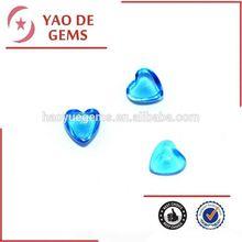 Heart Shape Blue Topaz Synthetic CZ Stone Cubic Zirconia Sapphire Stone/synthetic diamonds