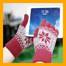 New Jacquard Design Winter ipad iphone Gloves For Touch Screen