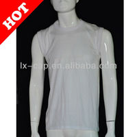 fashion men top vest plain white cotton vest