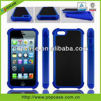 for iphone 5 hybrid case Triple defender phone case, PC+TPU+Silicone Case