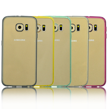 Silicone TPU & Hard plastic combo high impact shield phone case cover for Samsung galaxy S6