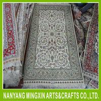 oriental persian rug vintage handmade hand knotted pure silk floor carpet
