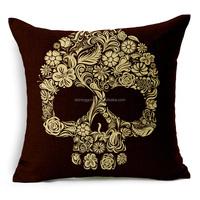 Home decor human skeleton printed wholesale throw pillows STPC018