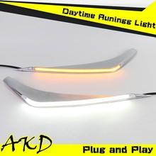AKD Car Styling Toyota Highlander LED DRL 2012 Highlander LED Eye Brow LED Daytime Running Light Good Quality LED Fog lamp