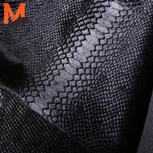 wholesale baby calf hair skin in snake pattern--men's jacket