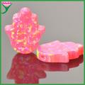 alta qualidade sintética opala rosa pingente hamsa mão de fátima pingente
