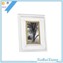 Clear crystal acrylic picture hung photo frame custom